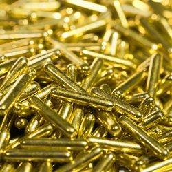 BrandNewCake Sugar Rods Metallic Goudgeel 600gr.
