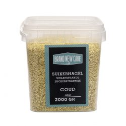 BrandNewCake Sugar Strands Metallic Goud 200gr.
